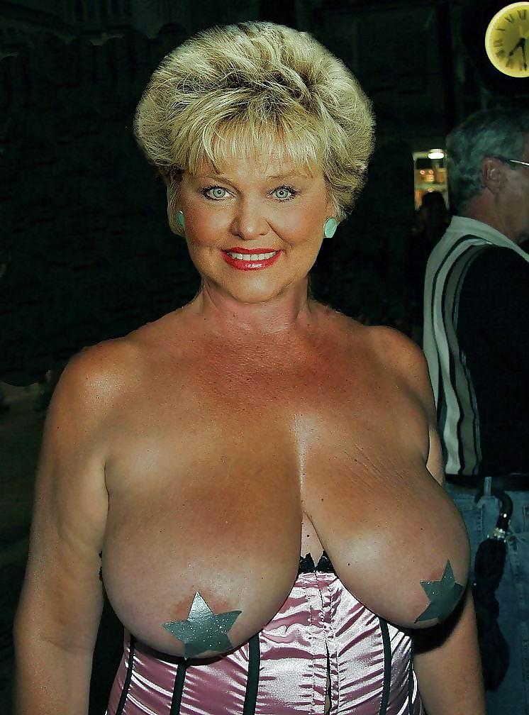 Granny boobs old Amanda Holden