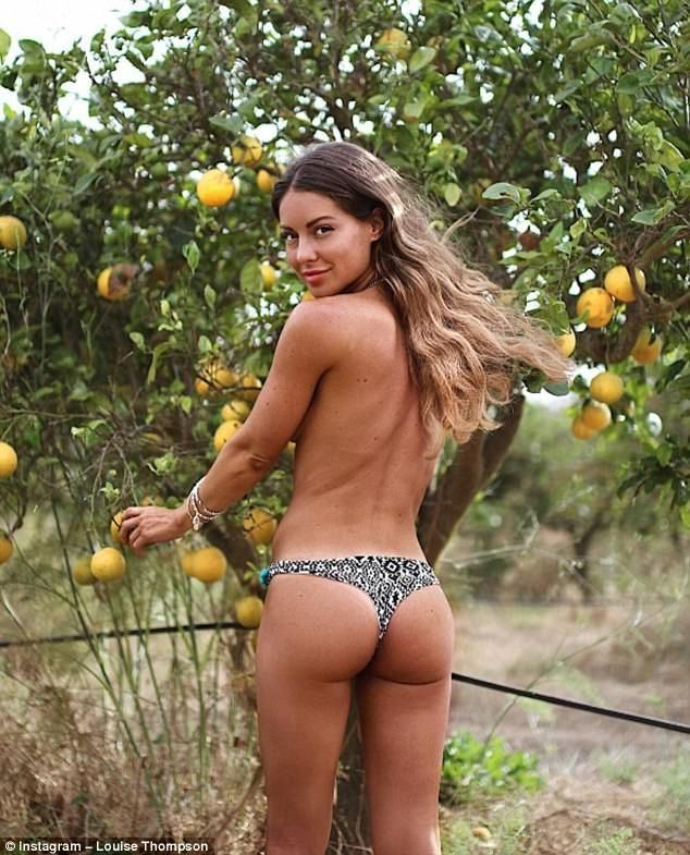 Young girl bikini topless small