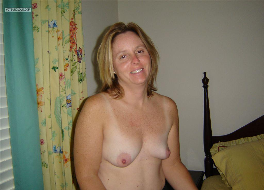 Wife topless with friends