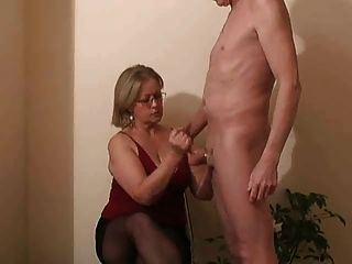 Girls handjob on hard cocks