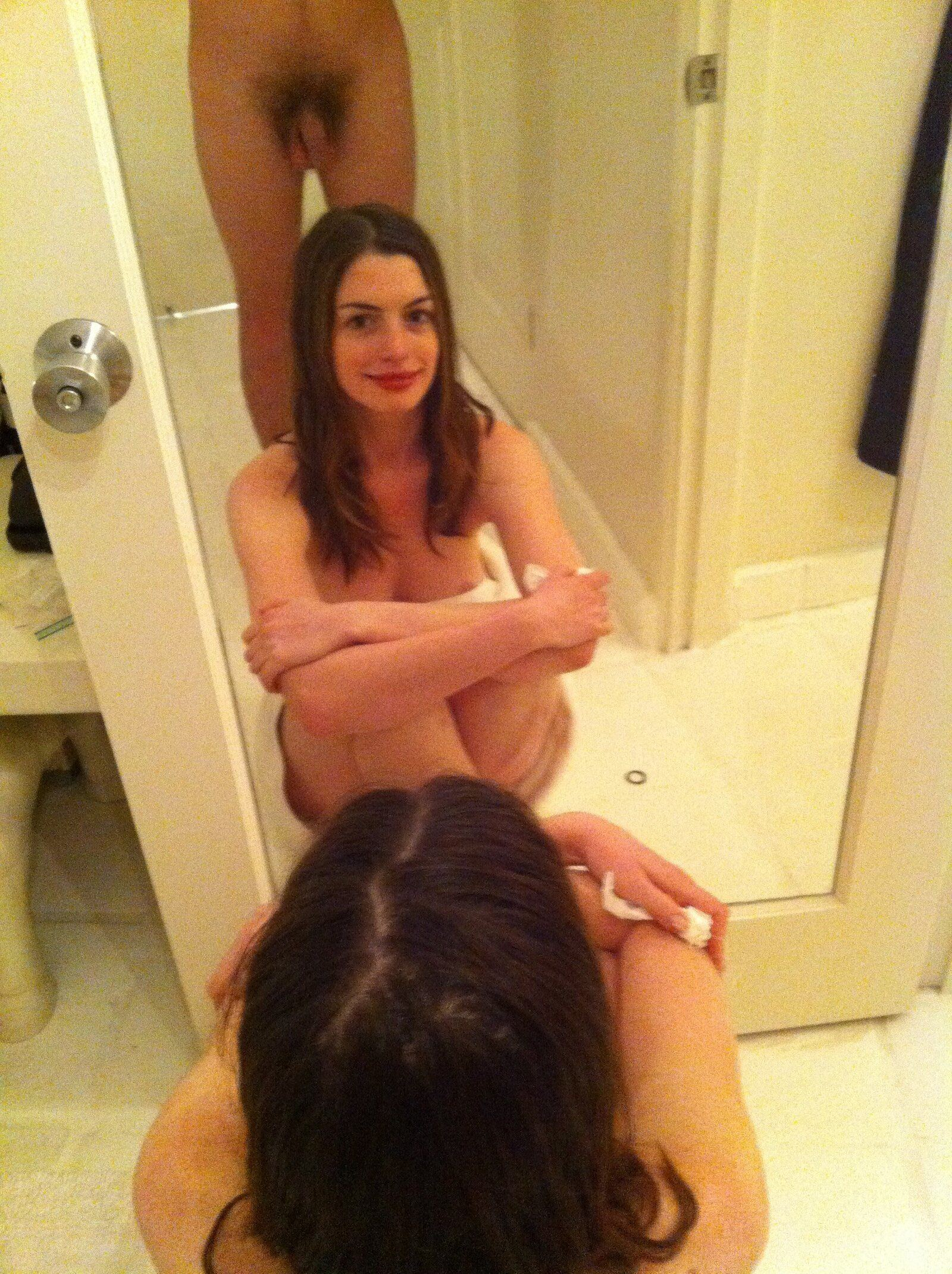 Anne Hathaway Porno anne hathaway naked at the door - xxx sex photos.