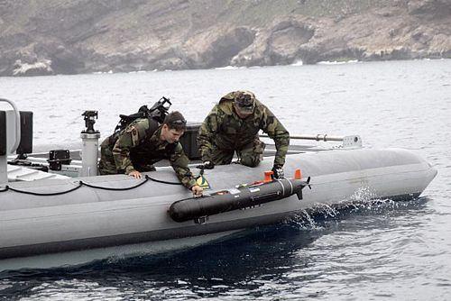 Naval midget submarine