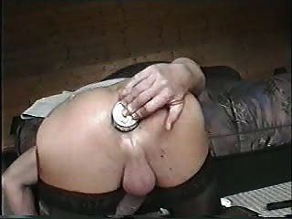 Masterbating on latex panties
