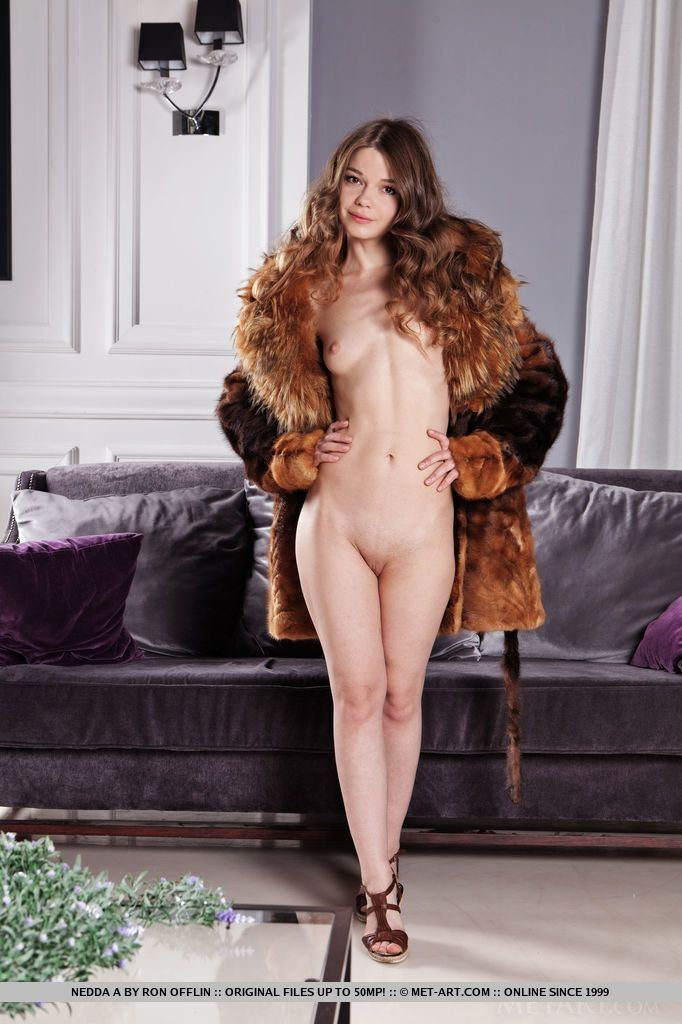Interesting. Tell woman coat fur nude in think, that