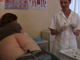 Fetish exam injection ass nurse agree, useful